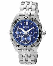 Armitron Mens Chronograph Blue Dial Stainless Steel Band Watch 20/4664BLSV