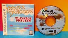Panzer Dragoon Demo Disc Sega Saturn PLAYABLE PREVIEW w/ sleeve case Rare 81018