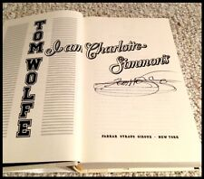 I AM CHARLOTTE SIMMONS--SIGNED by Tom Wolfe (2004, Hardcover)-1st Edition-MINT
