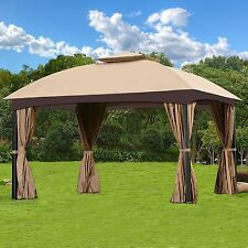 Garden Gazebo Canopy Patio Backyard Double Roof Vented Mosquito Netting Tent