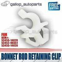 Bonnet Rod Retaining Clip Support Stay Clamp Holder Fit Toyota Hilux Landcruiser