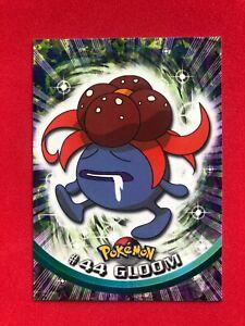 Gloom #44 Pokemon TV Animation Series 1 Green Topps 1999 Trading Card MINT