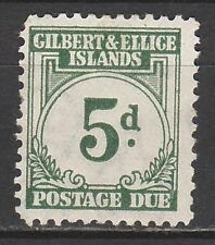 GILBERT & ELLICE ISLANDS 1940 POSTAGE DUE 5D