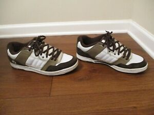 Used Worn Size 13 DVS Wilson 3 Skateboard Shoes White, Brown, Lt Brown