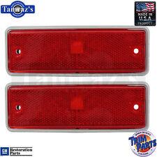 78-87 El Camino Caballero Rear Red Side Marker Light Lamp Reflector - PAIR - USA