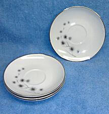 "Creative Fine China 1014 Japan Set of Four 5 3/4"" Saucers, Mint!"