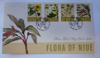 2015 NIUE FLORA OF NIUE SET OF 4 STAMPS FIRST DAY COVER