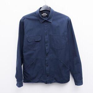 MADS NORGAARD Men's XL Canvas Shirt Sahi Snap Button Chore Jacket Utility Work