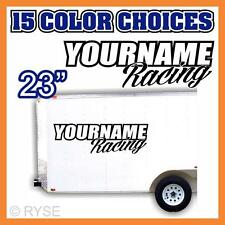 Team Your Name Racing Number Trailer Decal Sticker Car Imca Model Sprint Stock