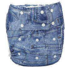 Adult Cloth Diaper Nappy Teen Reusable Washable Disability Incontinence Jeans