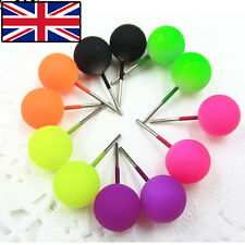 CUTE ROUND STUD EARRINGS BRIGHT LUMINOUS STUD EARRINGS SMALL STUDS 5 COLOURS