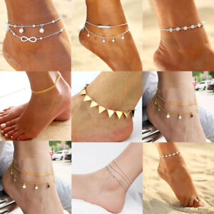 Boho Silver Gold Anklet Ankle Bracelet Chain Barefoot Sandal Beach Jewelry Gifts