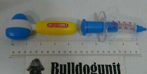 Lot 2 Plastic Doctor Toys Only Play Medical Pretend Syringe Reflex Hammer