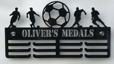 Thick 5mm Acrylic Personalised FOOTBALL 3tier Medal Hanger / holder