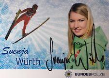 Autogramm AK Svenja Würth Skisprung Skispringerin Baiersbronn Bundespolizei *