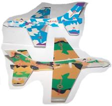 12 Pieces Flying Asst Camouflage Flying Airplane Gliders 8 in toy planes New