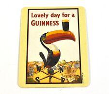 Guinness Bier Bierdeckel Untersetzer Coaster - Motiv Tukan Vogel mit Glas