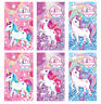 6 Unicorn Notebooks - Pinata Toy Loot/Party Bag Fillers Wedding/Kids