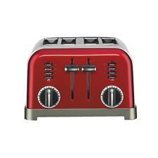 "Cuisinart 4 Slice Red Toaster Cuisinart Four 1.5"" Toasting Slots LED Indicators"
