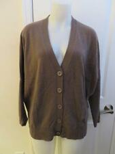 WOMENS REPEAT BROWN CARDIGAN SWEATER SIZE 36/XS