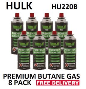 HULK  BUTANE GAS 220gm PER CAN COUNTER SINK RELEASE (CRV)VENT   PKT 8  HU220B-8