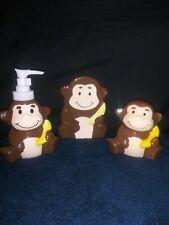 Kids 3pc Bathroom Sets-Duck,Monkey Frog.Soap Dispenser,Tooth-brush,soap dish