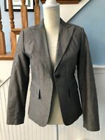 WOMENS BANANA REPUBLIC BLACK LONG SLEEVE LINED BLAZER JACKET SIZE 4 EUC