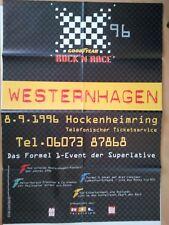 WESTERNHAGEN 1990 HOCKENHEIMRING +  orig. Concert Poster - Konzert Plakat  F/NEU