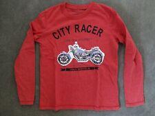 "Review by P&C - Kinder Longsleeve-""City Racer"" rot-Gr.128/134 Pailletten Design"