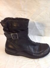 Green Boxx Black Ankle Leather Boots Size 41