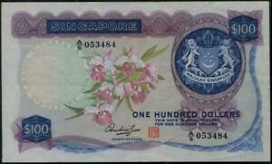 Singapore $100 Orchids Series. Board of Comm. of Currency. 4th Issue. #p6d. 1976