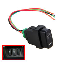 Car Daytime Running Fog Light Blue LED Rocker Switch Dashboard ON/OFF Button12V