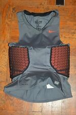 NIKE PRO COMBAT DEFLEX PADDED COMPRESSION MENS SLEEVELESS SHIRT - MENS sz LARGE