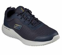 Scarpe Uomo Blu Skechers Bounder Ultra Leggera Memory Foam Sneaker Camminata