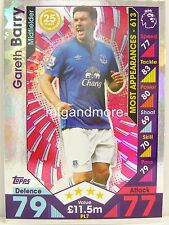 Match Attax 2016/17 Premier League -  PL7 Gareth Barry - Player Legends