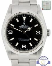2000 Rolex Explorer I Swiss Black 36mm 14270 A Stainless Steel Oyster Watch