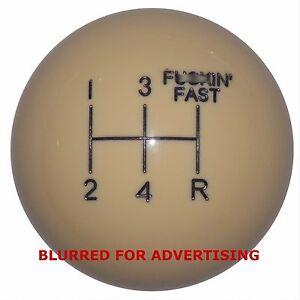 Vintage Ivory F-in Fast 5 Speed shift knob  M12x1.25 thd U.S MADE