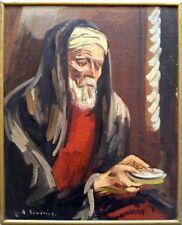 Rudolf Gowenius: Beggar / Swedish Sweden Scandinavian Modern Expressionism S/Oil