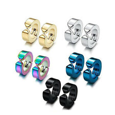Colorful Non Piercing Magnet Earrings Stainless Steel Charm Hoop Earrings Set