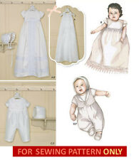 SEWING PATTERN! MAKE BABY BAPTISM~CHRISTENING ROMPER~GOWN! GIRL~BOY! PREEMIE~21#