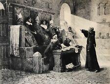 Jean Paul LAURENS L'Agitateur du Languedoc Boulard en 1887 Inquisition cathare