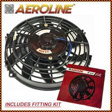"""9""""  Aeroline® Electric Radiator / Inter Cooler 12v Cooling Fan + Fitting Kit"""