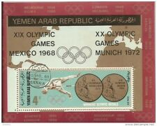 YAR Block Olympic Games Mexico 1968 Munich 1972