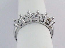 5 Stone Ring Setting 14K Yellow Gold For 0.10Ct Each Diamond 1/2Ct TW Mounting