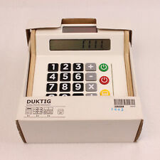 Ikea Child's Wood Duktig Toy Cash Register Solar Calculator Pretend Play Store