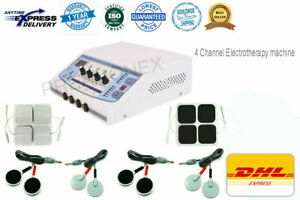 New Physiotherapy Physical Therapy 4-Ch Massager Machine Blue Electrotherapy-SZD