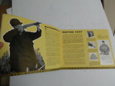 1938 Mid-Western Sport Togs Hunting Jacket Clothes Catalog Berlin Glove Vintage