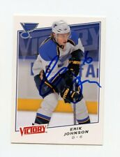 ERIK JOHNSON BLUES AUTOGRAPH AUTO 08-09 UPPER DECK VICTORY #29 *62072