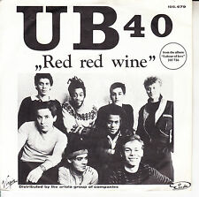 "UB40  Red Red Wine PICTURE SLEEVE 7"" 45 rpm record BRAND NEW + juke box strip"