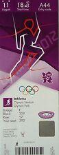 TICKET Olympia London 11.8.2012 Finals Leichtathletik Athletics A44